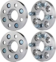 ECCPP 4 lug Wheel Spacers hubcentric 20mm 4x100mm to 4x100mm fits for Honda CRX Honda Civic del Honda Fit with 12x1.5 Studs
