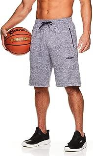 Men's Basketball Gym & Running Sweat Shorts w/Elastic Drawstring Waistband & Zipper Pockets