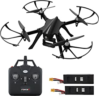Force1 F100 RC Drone Compatible with GoPro Mount – F100 MJX Bugs 3 Go Pro Compatible Drones w/Brushless Quadcopter Motors, 2 Batteries (Camera Not Included)