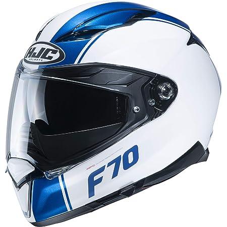 Hjc Helmets Herren Nc Motorrad Helm Weiss Blau M Auto