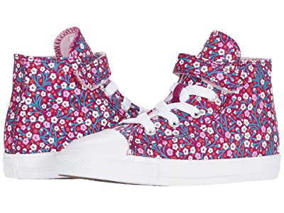 Converse Kids Chuck Taylor(r) All Star(r) 1V Floral (Infant/Toddler) (Rose Maroon/Cherry Blossom) Girl