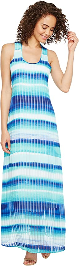 Blurred Stripe Printed Maxi Dress Calvin Klein Clothing Women At