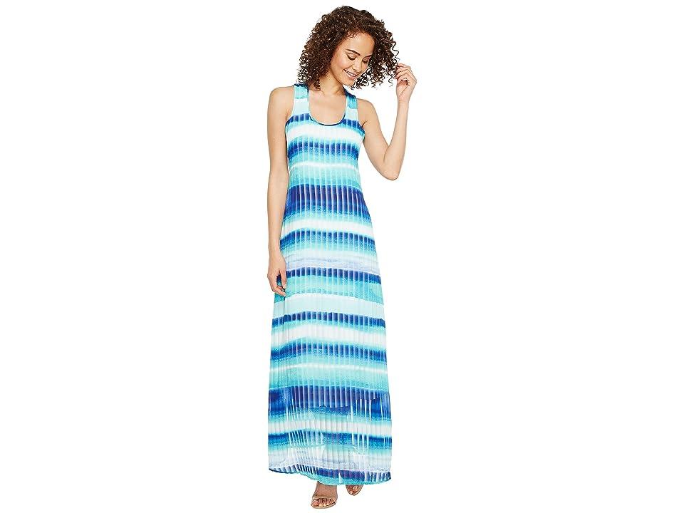 Calvin Klein Stripe Print Maxi (Regatta Multi) Women