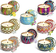 YCYH Scented Candles Gift Sets, Natural Soy Wax 2.5 Oz Unit Portable Travel Tin Perfect for Women Aromatherapy Anniversary - 8 Pack