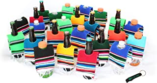 Mexican Beer Bottle Serape Ponchos 24 Pack And Bottle Opener
