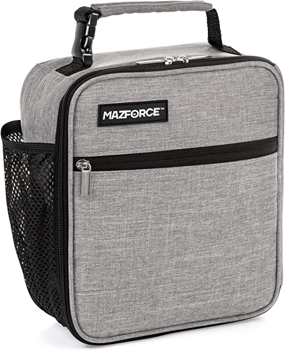 MAZFORCE Original Lunch Box Insulated Lunch Bag - Tough & Spacious Adult Lunchbox to Seize Your Day (Wolf Grey - Lunch Bags Designed in California for Men
