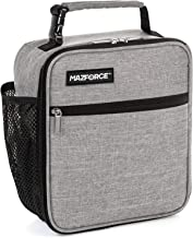 MAZFORCE Original Lunch Box Insulated Lunch Bag - Tough & Spacious Adult Lunchbox to Seize Your Day (Wolf Grey - Lunch Bags Designed in California for Men, Adults, Women)
