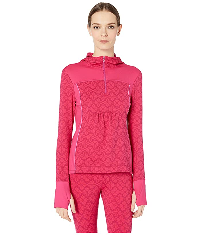 Kate Spade New York Athleisure Floral Spade 1/2 Zip Jacket (Kinetic Pink) Women