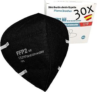 Mascarilla FFP2 negra FFP2 CE 2797 Mascarilla de Protección Personal.5 capas. Extra Alta Eficiencia Filtración, Caja 30 Ud...