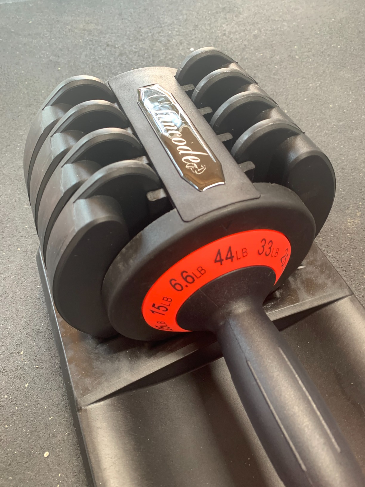 Funcode Adjustable Dumbbell 44 or 88 Lb, Multiweight Options, Anti-Slip Handle, All-Purpose, Home, Gym, Office… photo review
