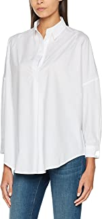 French Connection Women's Rhodes Polin Light Weight Long Sleeve Oversized Blouse
