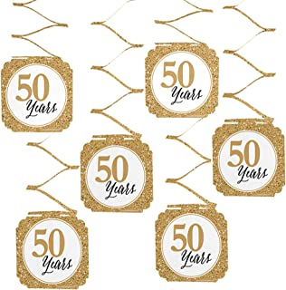 Big Dot of Happiness We Still Do - 50th Wedding Anniversary Party Hanging Decorations - 6 Count
