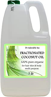 Organic Pure Fractionated Coconut Oil 7 Lb/One Gallon