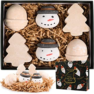 Bath Bombs Gift Set,6 Piece Bubble Bath Fizzies,Lavender,Vanilla and Rose Handmade Bubble Bath Bomb,Gift for Christmas