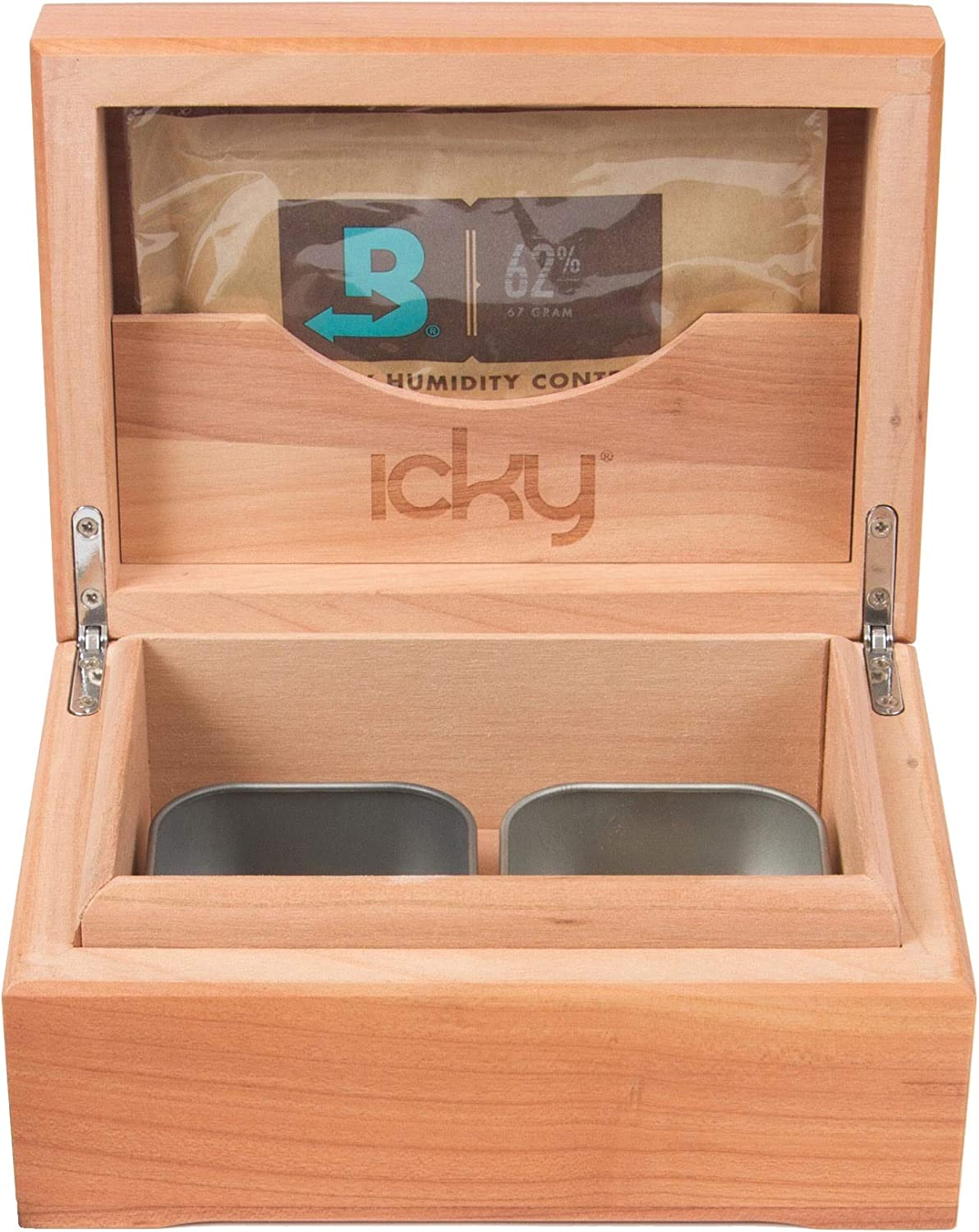 Icky Box 2 Tin- Keeps Herb at Wood. Cherry Ideal Latest item Outlet SALE 100% Humidity