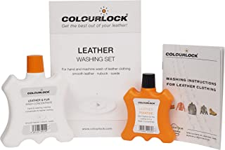 COLOURLOCK Leather & Fur Washing Kit || Machine or Hand wash | Pigmented leather, suede, fur | Garments, bags, rugs and ac...