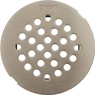 Moen 101663BN Kingsley 4-1/4-Inch Snap-In Shower Drain Cover, Brushed Nickel