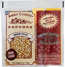 product image for Amish Country Popcorn | (24) 4 Ounce Theater Popcorn Portion Packs of Medium White Popcorn with Oil & Salt | Old Fashioned with Recipe Guide