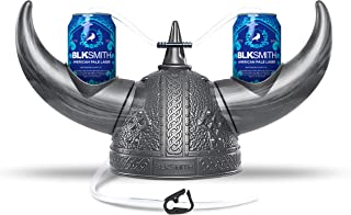 BLKSMITH Viking Can Holder Helmet for Sport Events Party Hat Games and More - Silver
