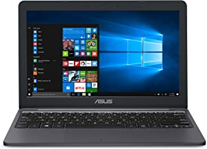 "ASUS VivoBook L203MA Ultra-Thin Laptop, 11.6"" HD, Intel Celeron N4000 Processor (up to 2.6 GHz),..."