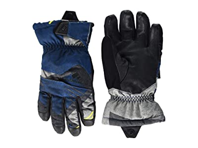 Obermeyer Kids Lava Gloves (Little Kids/Big Kids) (Retro Graphic Blues) Extreme Cold Weather Gloves