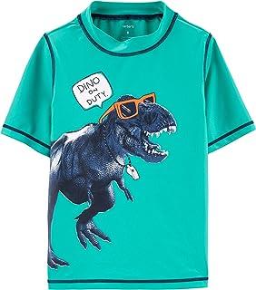 Carter's cater's Rashguard and Swim Trunks… (Dinosaur Rashguard, 6)