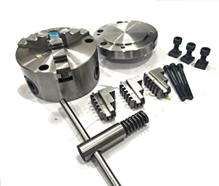 100 mm Self Centering Chuck +Reversible Jaws+ Back Plate (MT2 Spigot)-Fits Rotary Table