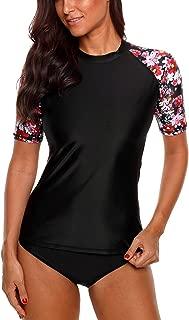 Women's Rash Guard Short Sleeve Rashguard Sun Protection Shirt UPF 50+