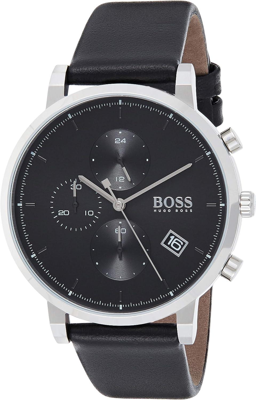 Hugo BOSS Reloj Cronógrafo para Hombre de Cuarzo con Correa en Cuero 1513777