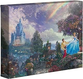 Thomas Kinkade Studios Disney Little Mermaid Falling in Love 8 x 10 Gallery Wrap