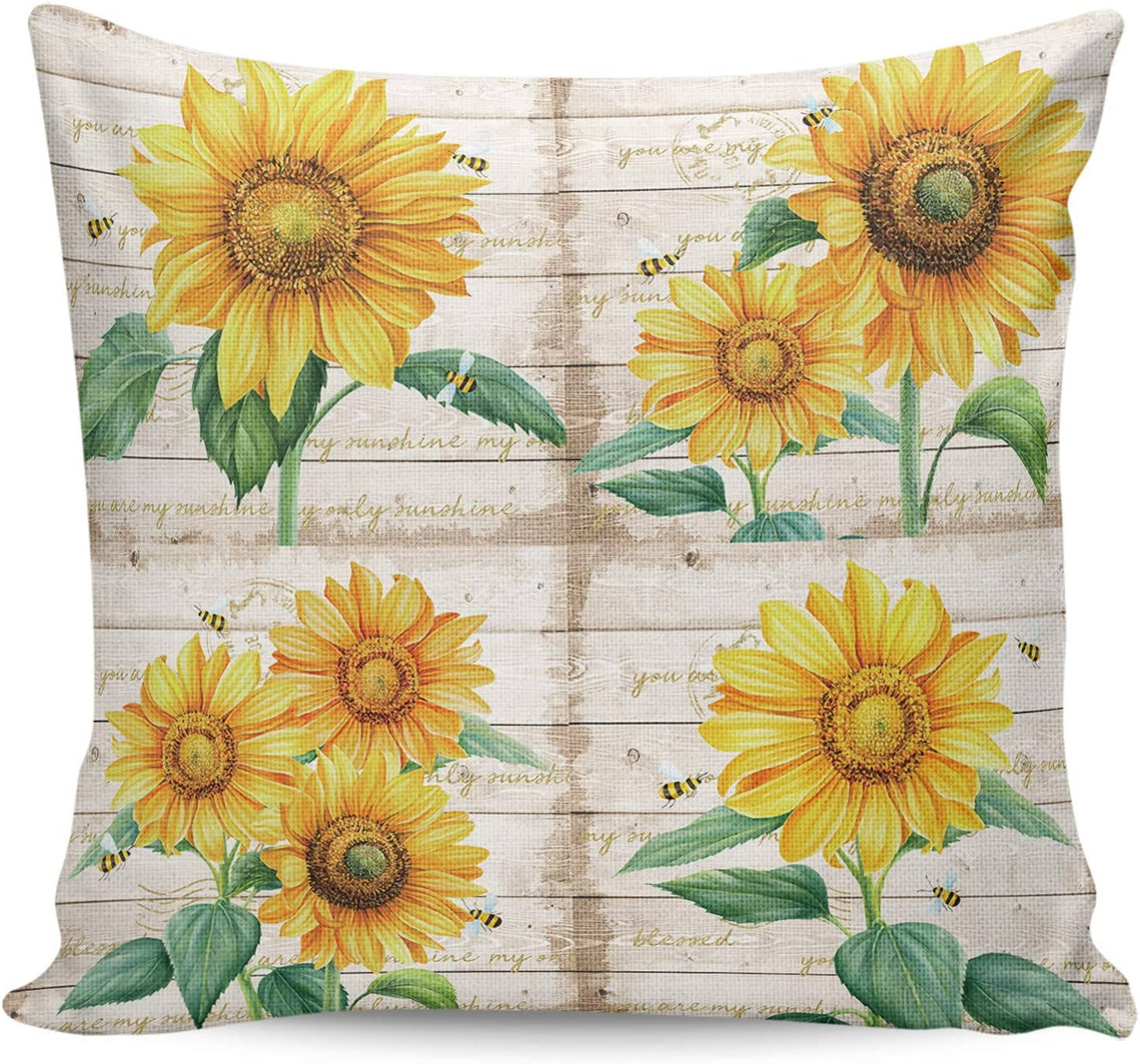 ARTSHOWING Max 77% OFF Farmhouse Decorative Columbus Mall Couch Throw Pillowcase P Square