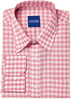 Solitaire Shirt for Men - Pink/White