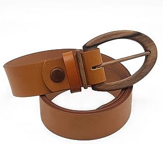 Sponsored Ad - Wood Belt Unisex Casual Leather Belt SLIDE Clever 408 Walnut