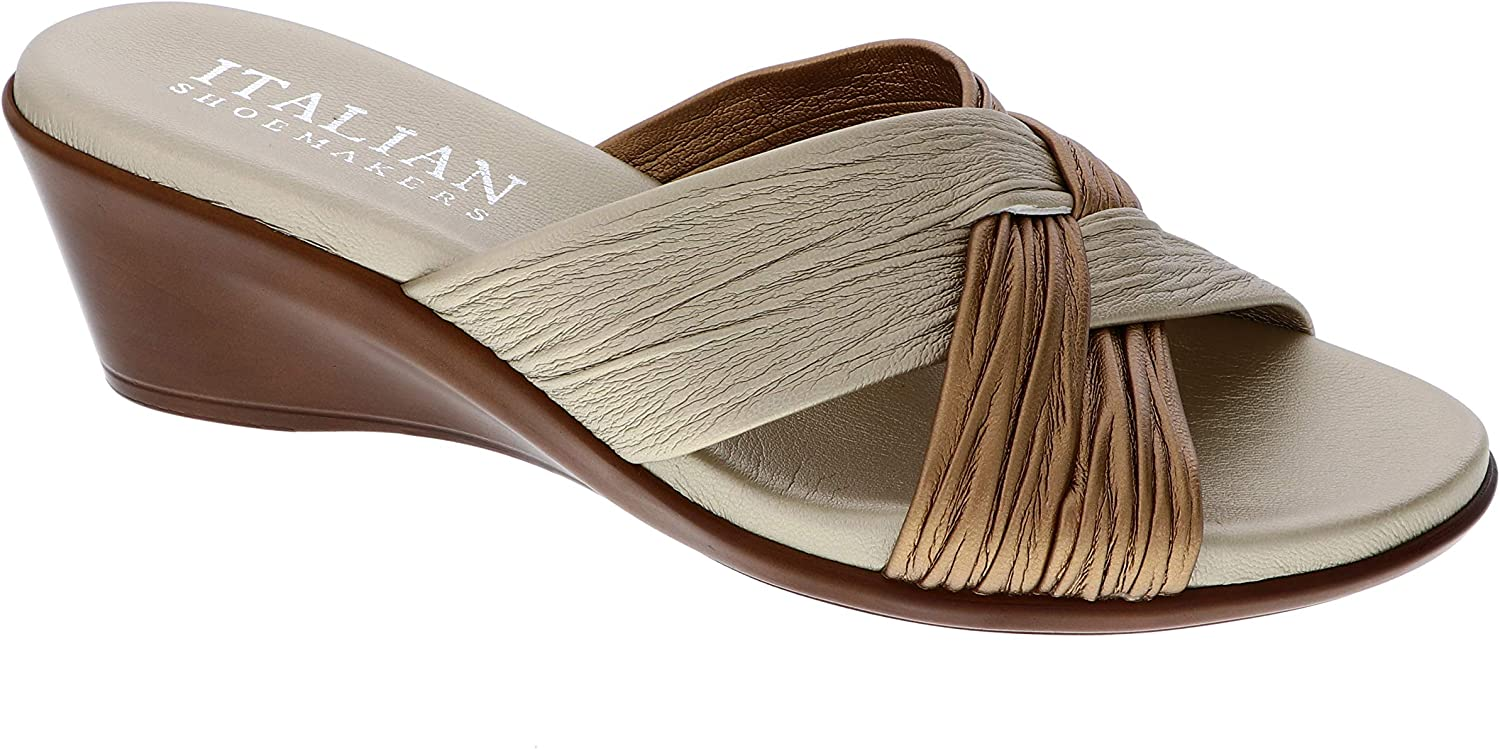 Limited price sale Italian Shoemakers Women's Saylor Mail order Wedge Sandal