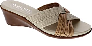 Italian Shoemakers Jewel Wedge Sandal