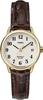 Timex Women's Easy Reader Date Leather Strap 25mm Watch