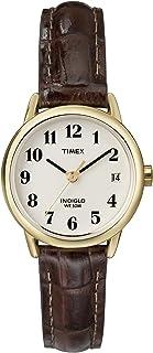 ساعة تايمكس للنساء سهلة القراءة بحزام جلدي 25 مم