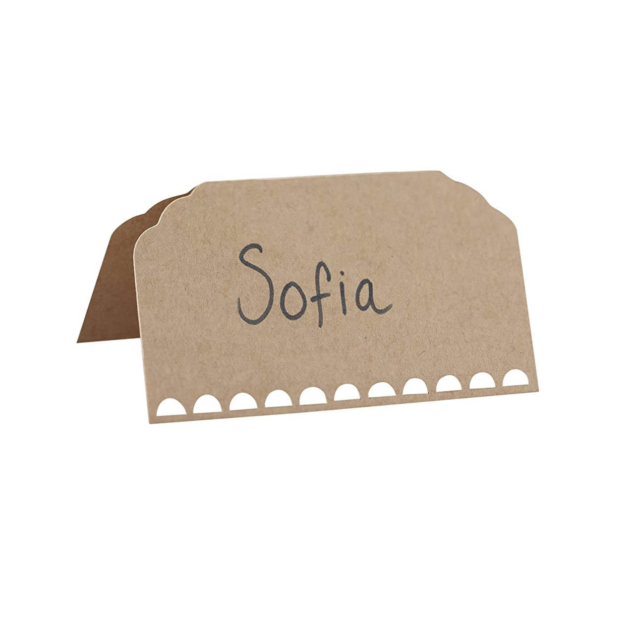 Ginger Ray Plain Kraft Wedding Place Cards, Brown