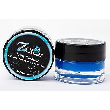 Z Clear Lens Cleaner & Anti-Fog: Paste 2 Pack | Stays Cleaner for Longer - Anti-Static - Scratch-Filler | Safe on All Lenses, Alcohol & Ammonia Free | All Glasses, Goggles, Optics, Masks