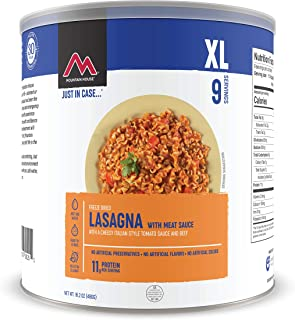 Mountain House Lasagna with Meat Sauce XL | Freeze Dried Survival & Emergency Food | #10 Can