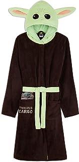 The Mandalorian Baby Yoda Dressing Gown Mens, Mandalorian Hooded Bath Robe, Men's Gifts