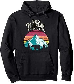 Retro Rocky Mountain National Park Colorado Bear Hoodie