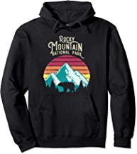Retro Rocky Mountain National Park Colorado Bear Hoodie