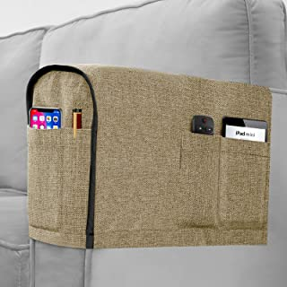Joywell Armrest Covers for Living Room Anti-Slip Sofa Arm Protector for Dogs, Cats, Pets Linen Armchair Slipcover for Recl...