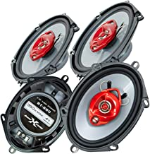 $49 » 4X Soundxtreme ST-680 5x7 Inch / 6x8 Inch 3-Way 700 Watts Coaxial Car Speakers 4-Ohm Polypropylene Mid-Woofer Cone Materia...