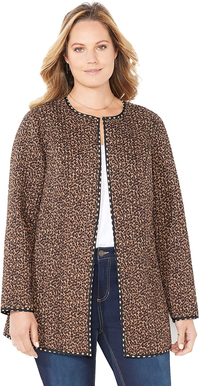 Catherines Women's Plus Size Reversible Quilted Jacket