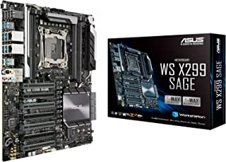 Asus Workstation Board - Placa base Intel LGA 2066 CEB con quad-GPU , DDR4 4200MHz, dual M.2 & U.2, conector USB 3.1 Gen 2, ASUS Control Center