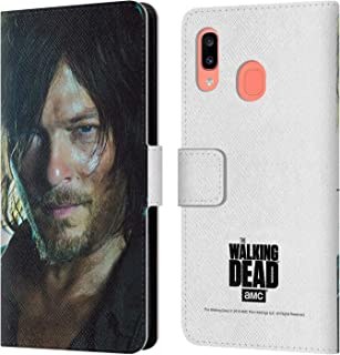 Official AMC The Walking Dead Daryl Characters Leather Book Wallet Case Cover Compatible for Samsung Galaxy A20 / A30 2019