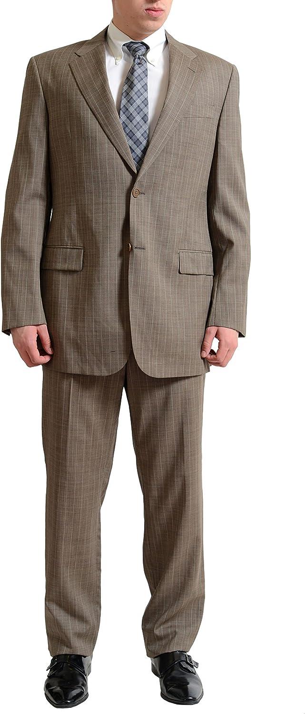 Gianfranco Ferre Men's Multi-Color 100% Wool Two Button Suit US 44L IT 54L