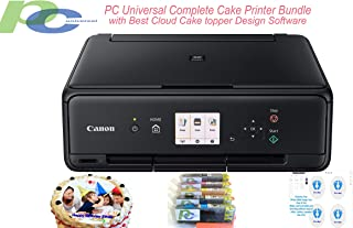 PC Universal Complete Cake Printer Bundle - Includes All-in-one Wireless Printer, XL Size Ink cartridges, Cake Topper Design Software